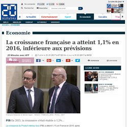 La croissance française a atteint 1,1% en 2016, inférieure aux prévisions