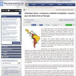 Amérique Latine : croissance, stabilité et inégalités : Leçons pour les Etats-Unis et l'Europe