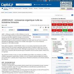 JCDECAUX : croissance organique nulle au troisième trimestre
