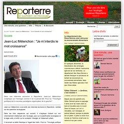 Jean-Luc Mélenchon s'explique sur l'écologie