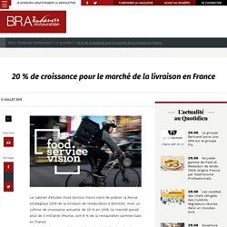 20 % de croissance pour le marché de la livraison en France - B.R.A. Tendances Restauration