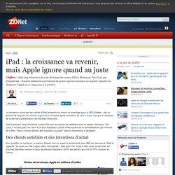 iPad : la croissance va revenir, mais Apple ignore quand au juste