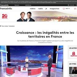 Croissance : les inégalités entre les territoires en France