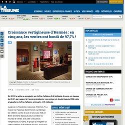 Croissance vertigineuse d'Hermès : en cinq ans, les ventes ont bondi de 97,7%!