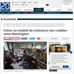 Chine: un modèle de croissance non «viable» selon Washington