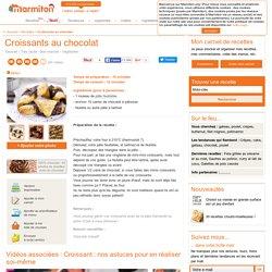 Croissants au chocolat : Recette de Croissants au chocolat