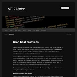 Cron best practices