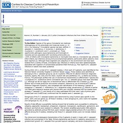 CDC EID - JANV 2013 - Cronobacter Infections Not from Infant Formula, Taiwan