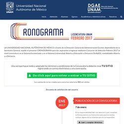 Cronograma - UNAM