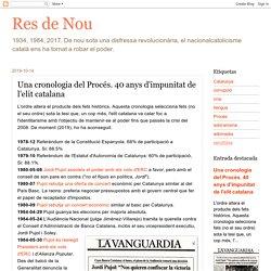Una cronologia del Procés. 40 anys d'impunitat de l'elit catalana