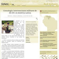 Cronología: intervenciones militares de EE.UU. en América Latina