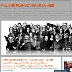 Obra completa de Sigmund Freud en español – 25 pdfs ordenados cronológicamente (descarga gratuita) – Actualizado al 04/09/15 – Optimizado al 04/09/2015