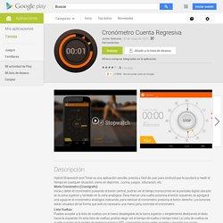 Cronómetro Cuenta Regresiva - Aplicaciones de Android en Google Play
