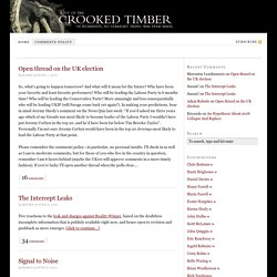 Crooked Timber — Out of the crooked timber of humanity, no straight thing was ever made