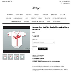 Crooklyn Red On White Baseball Jersey