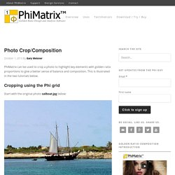 Photo cropping and composition using the golden ratio and PhiMatrix