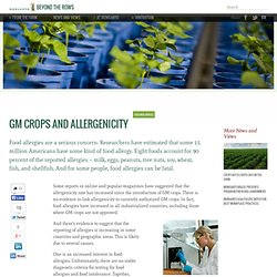 GM Crops and Allergenicity