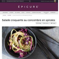 Salade croquante au concombre en spirales