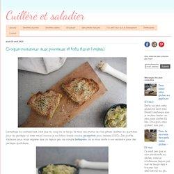 Croque-monsieur aux poireaux et tofu fumé (vegan)
