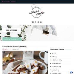 Croquets au chocolat (Bredele)