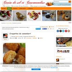 Croquettes de camembert -
