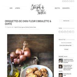 Croquettes de chou fleur ciboulette & comté