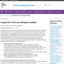 Croquis E3C, Paris une métropole mondiale