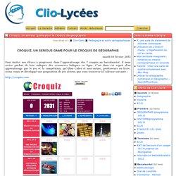Croquiz, un serious game pour le croquis de géographie - Clio-Lycée