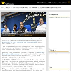 Over 2 crore students receive help under PMS-SC scheme