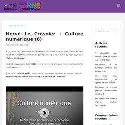 Hervé Le Crosnier : Culture numérique (6)