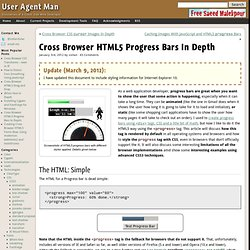 Cross Browser HTML5 Progress Bars In Depth