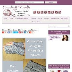 Cross-Over Long DC Fingerless Gloves