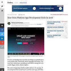 New Cross Platform App Development Tools In 2016