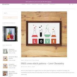 FREE cross stitch pattern - Love Chemistry