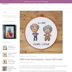 FREE Cross stitch pattern - Funny Old Couple