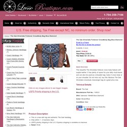 The Sak Silverlake Foldover CrossBody Bag Blue Diamond