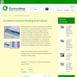 Crossbow Coloured Reading Rulers (Duo)