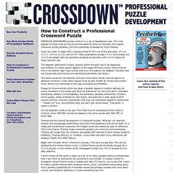 Crossdown Puzzle Making Software