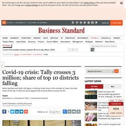 Covid-19 crisis: Tally crosses 3 million; share of top 10 districts falling