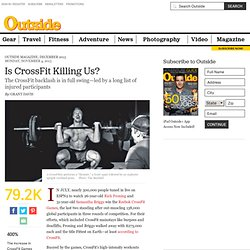 The CrossFit Backlash Begins