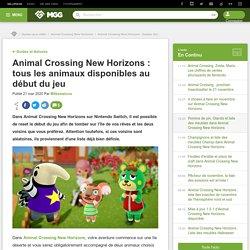 Animal Crossing New Horizons : tous les animaux disponibles au début du jeu - Millenium