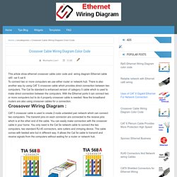 Crossover Cable Wiring Diagram Color Code - Cat5 Cat6 Wiring Diagram - Color Code