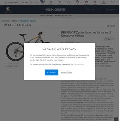 Cycles launches its range of Crossover e-bikes