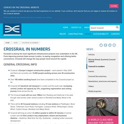 Crossrail in numbers