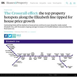 The Crossrail effect: the top property hotspots along the Elizabeth line tipped for house price growth
