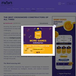 The Best Crossword Constructors of All Times - Wealth Words