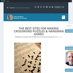 The Best Sites For Making Crossword Puzzles & Hangman Games