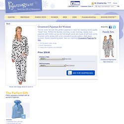 Crossword Pajamas for Women