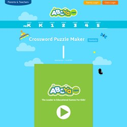 Crossword Puzzle Maker for Kids