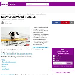 Free Easy Crossword Puzzles for Beginners